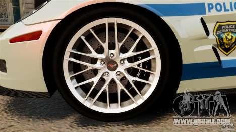Chevrolet Corvette ZR1 Police for GTA 4 side view