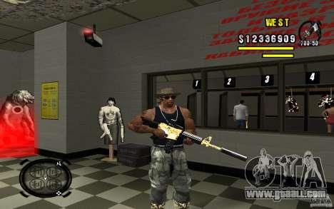 Gold Weapon Pack v 2.1 for GTA San Andreas sixth screenshot