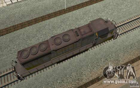 Clinchfield SD40 (Yellow & Grey) for GTA San Andreas back view