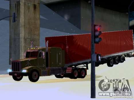 Peterbilt 377 Flattop for GTA San Andreas back view