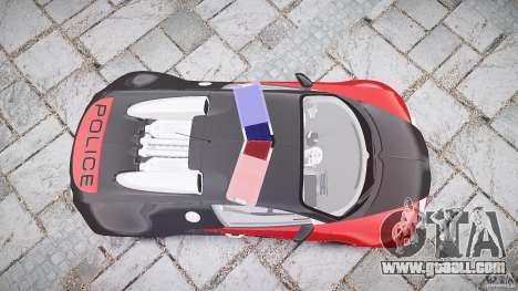 Bugatti Veyron 16.4 Police [EPM/ELS] for GTA 4 upper view