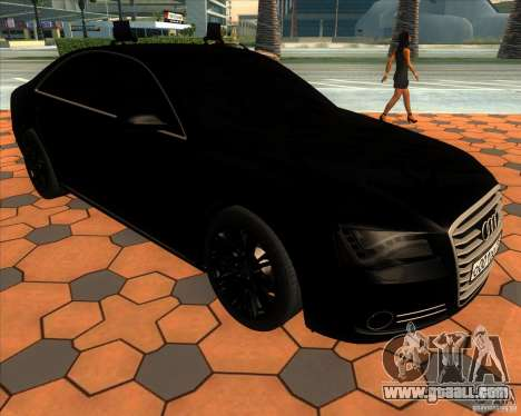 Audi A8 2010 v2.0 for GTA San Andreas side view
