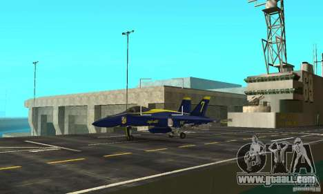 Blue Angels Mod (HQ) for GTA San Andreas back view