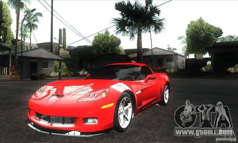 Chevrolet Corvette Grand Sport 2010 for GTA San Andreas engine