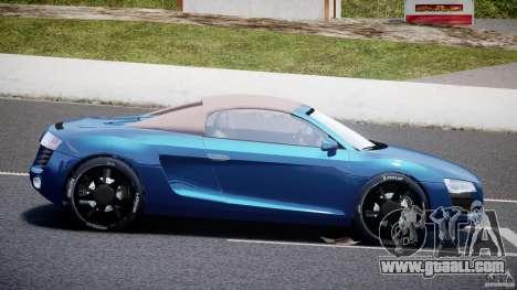 Audi R8 Spyder v2 2010 for GTA 4 left view