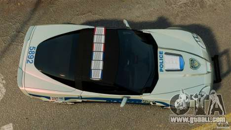 Chevrolet Corvette ZR1 Police for GTA 4 right view