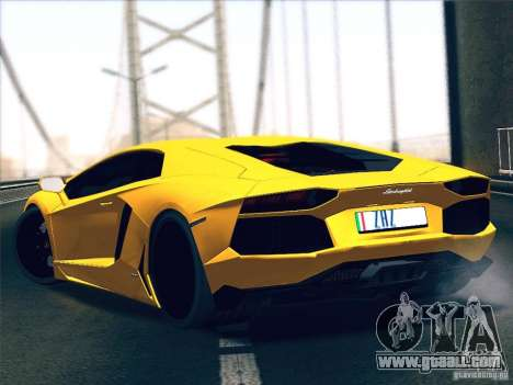 Lamborghini Aventador LP700-4 2011 V1.0 for GTA San Andreas right view