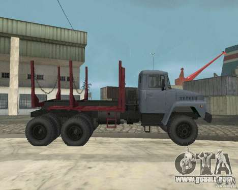 KrAZ-255 timber carrier for GTA San Andreas inner view
