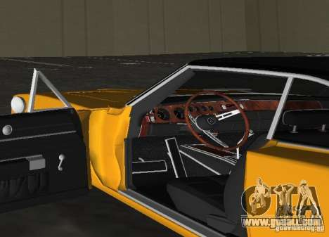 Dodge Charger RT 1969 for GTA Vice City back view