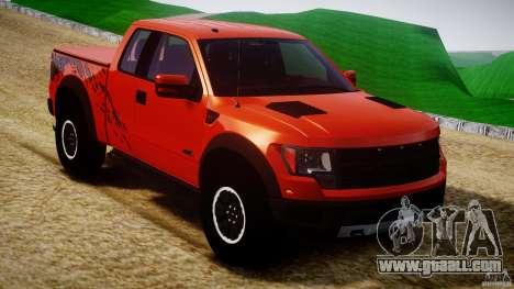 Ford F150 SVT Raptor 2011 for GTA 4 inner view