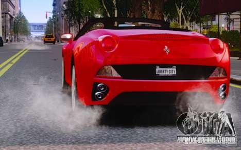 Ferrari California for GTA 4 side view