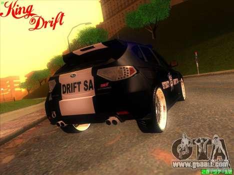 Subaru Impreza WRX Police for GTA San Andreas inner view