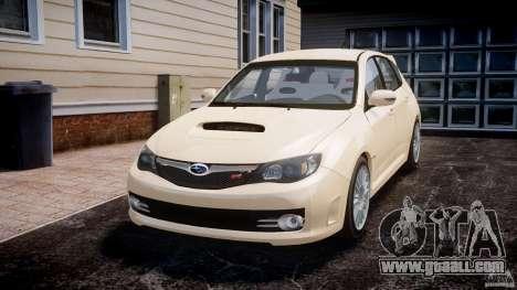Subaru Impreza WRX STi 2009 for GTA 4