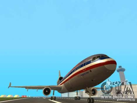McDonell Douglas MD11 American Airlines for GTA San Andreas inner view