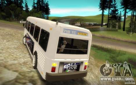 NFS Undercover Bus for GTA San Andreas back view