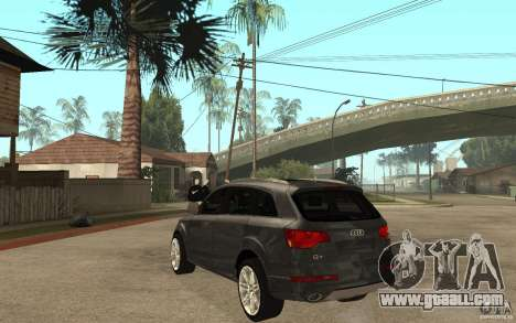 Audi Q7 TDI 2009 for GTA San Andreas back left view