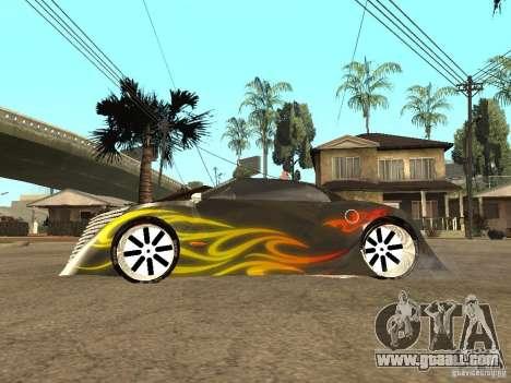 Thunderbold SlapJack for GTA San Andreas back left view