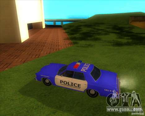 Ford Custom 500 4 door police 1975 for GTA San Andreas back left view