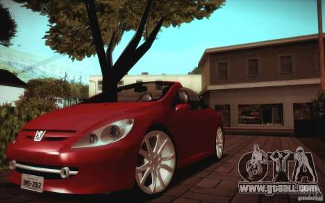 Peugeot 307CC BMS Edition for laptops for GTA San Andreas left view