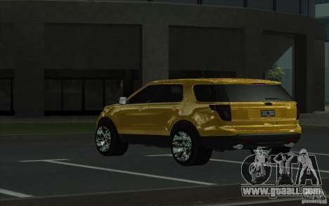 Ford Explorer Limited 2013 for GTA San Andreas back left view