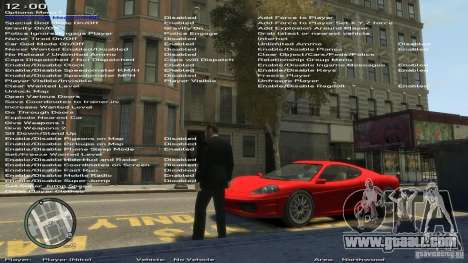 Simple Trainer Version 6.2 for 1.0.1.0-1.0.0.4 for GTA 4 sixth screenshot