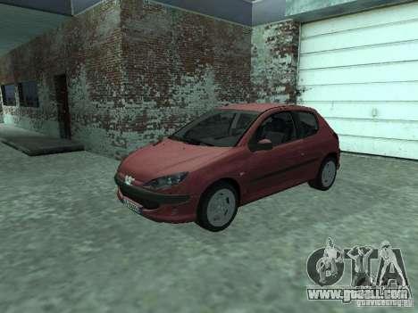 Peugeot 206 HDi 2003 for GTA San Andreas