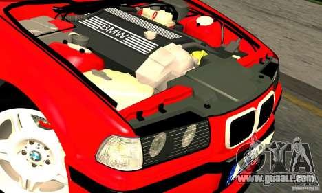 BMW M3 E36 for GTA San Andreas upper view