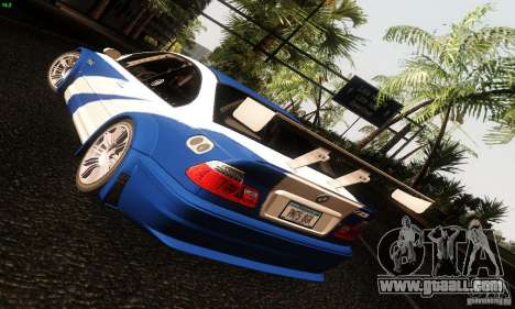 BMW M3 GTR v2.0 for GTA San Andreas back view