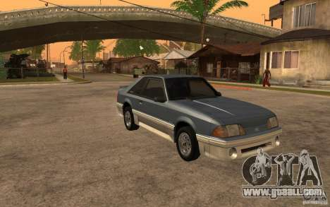 Ford Mustang GT 5.0 1993 for GTA San Andreas back view