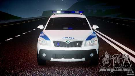 Skoda Octavia Scout NYPD [ELS] for GTA 4 bottom view