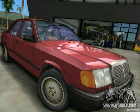 Mercedes-Benz E190 for GTA Vice City left view