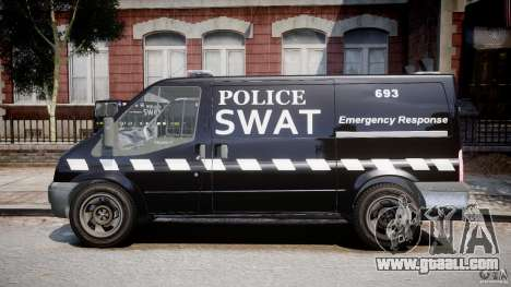 Ford Transit SWAT for GTA 4 left view