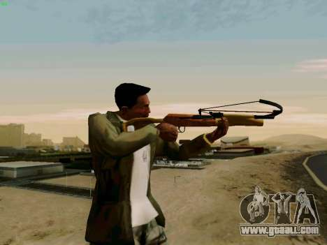 A working crossbow with arrows for GTA San Andreas second screenshot