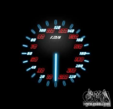 Neon Style Speedometr for GTA San Andreas third screenshot