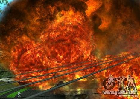 New effects of explosions for GTA San Andreas seventh screenshot