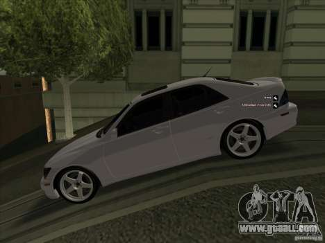 Lexus IS300 for GTA San Andreas left view