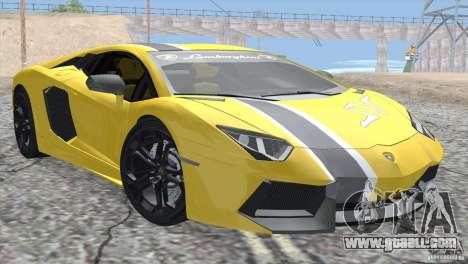 Lamborghini Aventador LP700-4 2012 for GTA San Andreas engine