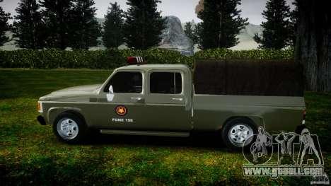 Chevrolet D20 Brigada Militar RS for GTA 4 inner view