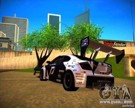 Scion tC for GTA San Andreas left view