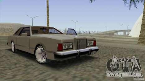 Virgo Continental for GTA San Andreas interior