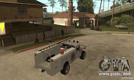 Hummer H1 Utility Truck for GTA San Andreas right view