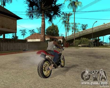 Kawasaki Ninja Tuning for GTA San Andreas back left view