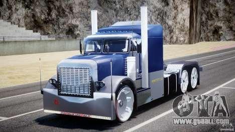 Peterbilt Truck Custom for GTA 4 back view