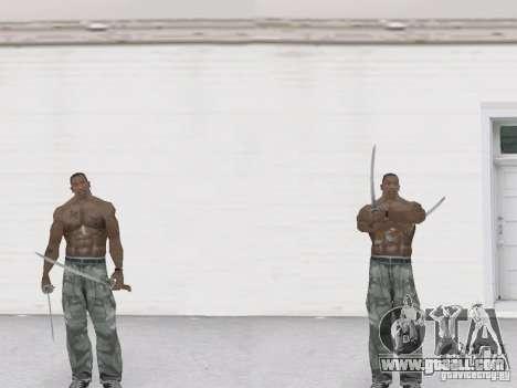 Two katanas for GTA San Andreas