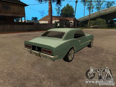 Chevrolet Camaro RS SS 396 for GTA San Andreas left view