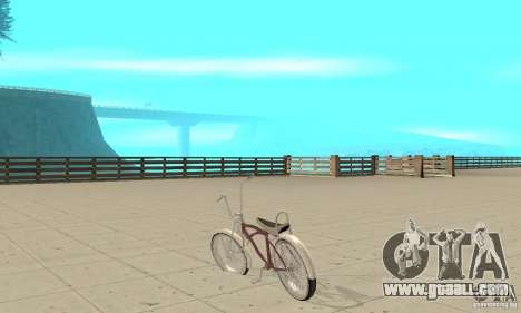 Lowrider Bicycle for GTA San Andreas back left view