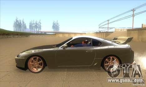 Toyota Supra for GTA San Andreas left view