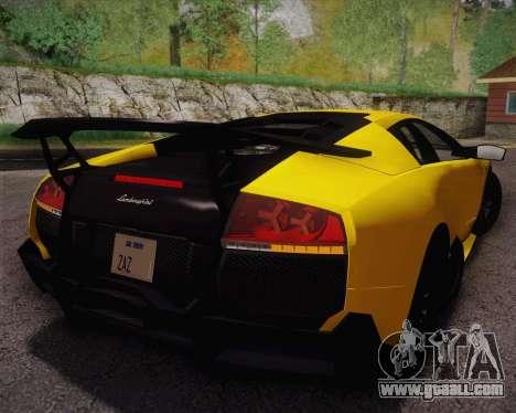 Lamborghini Murcielago LP 670/4 SV Fixed Version for GTA San Andreas left view