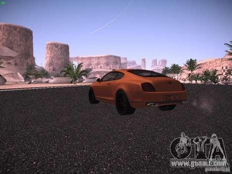 Bentley Continetal SS Dubai Gold Edition for GTA San Andreas right view