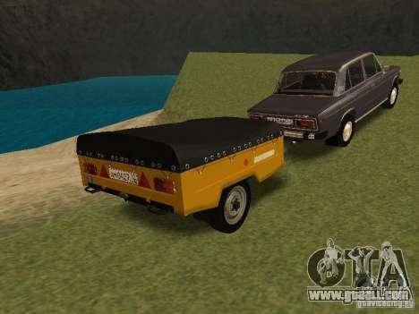 MAZ 8114 Calf for GTA San Andreas back left view